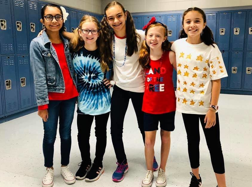 Schools have spent the past few weeks celebrating the start of the football season with themed dress up days. Pictured are students from Maddox Intermediate School, Curry Elementary School, Dora High School, and T.R. Simmons Elementary School.