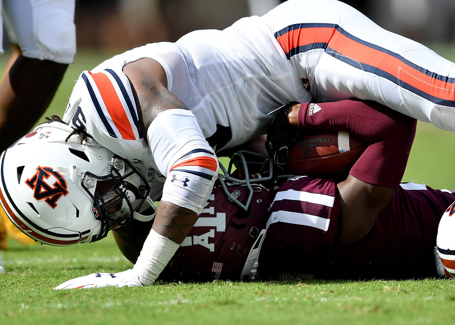 From the first half of an NCAA football game between the Texas A&M Aggies and the Auburn Tigers Saturday, Sept. 21, 2019, at Kyle Field in College Station Texas. Auburn wins 28-20.