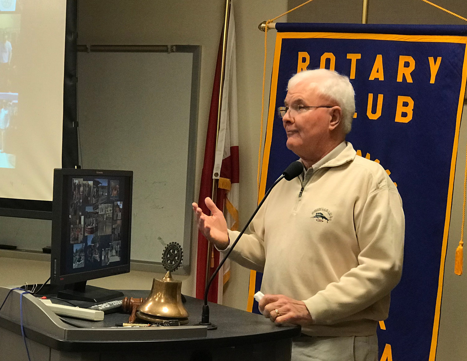 Local Vietnam veteran and author Jim Kitson spoke to the Rotary Club of Jasper on Tuesday about his experience during the Vietnam War and the impact it had on his life.
