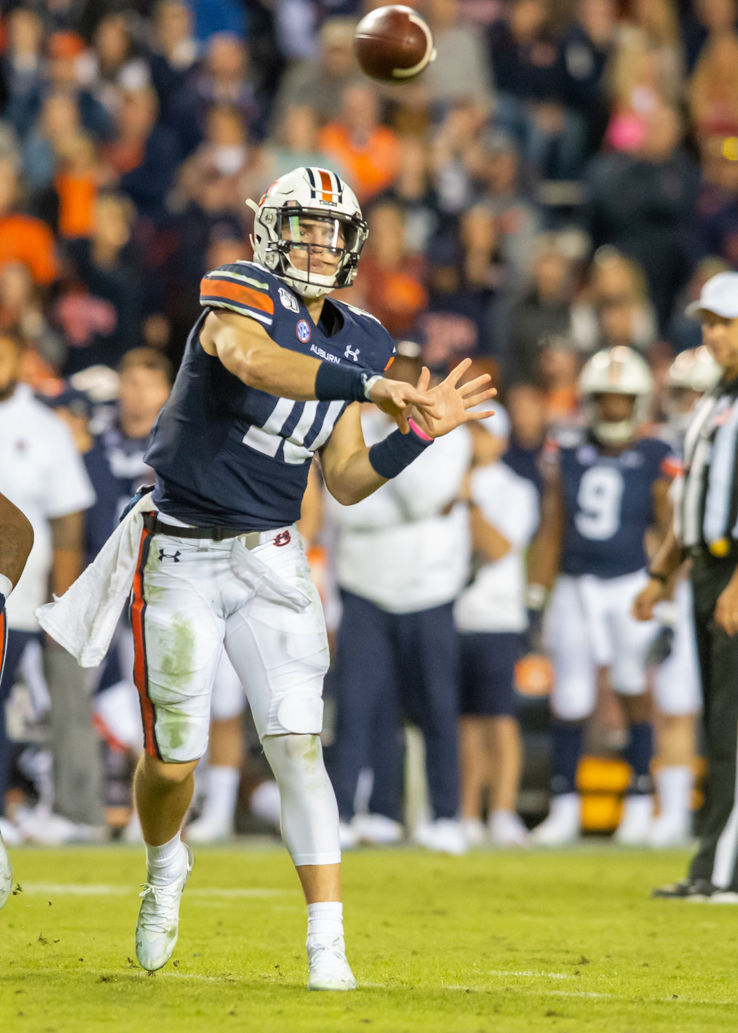 Auburn Tigers quarterback Bo Nix (10) throws  during the second half of Saturday's game, at Jordan-Hare Stadium in Auburn,, AL. Daily Mountain Eagle -  Jeff Johnsey