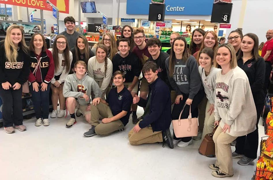 Sumiton Christian School students did some shopping at Walmart in mid-November to support community members in need. Sponsored through the Alabama Power Service Organization, the students were shopping for the Salvation Army Angel Tree.