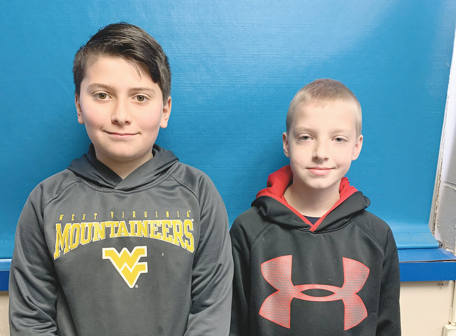 Bankhead Middle School students Devan Johnson and Austin Nunnely were recognized at the VEX IQ robotics competition for their robot development strategy.