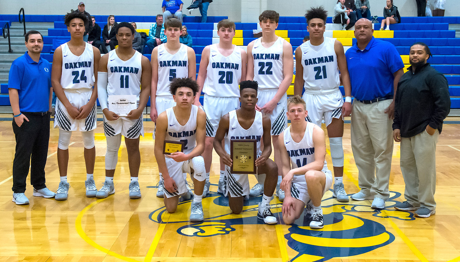 Oakman defeated Carbon Hill 55-44 for the varsity boys championship.