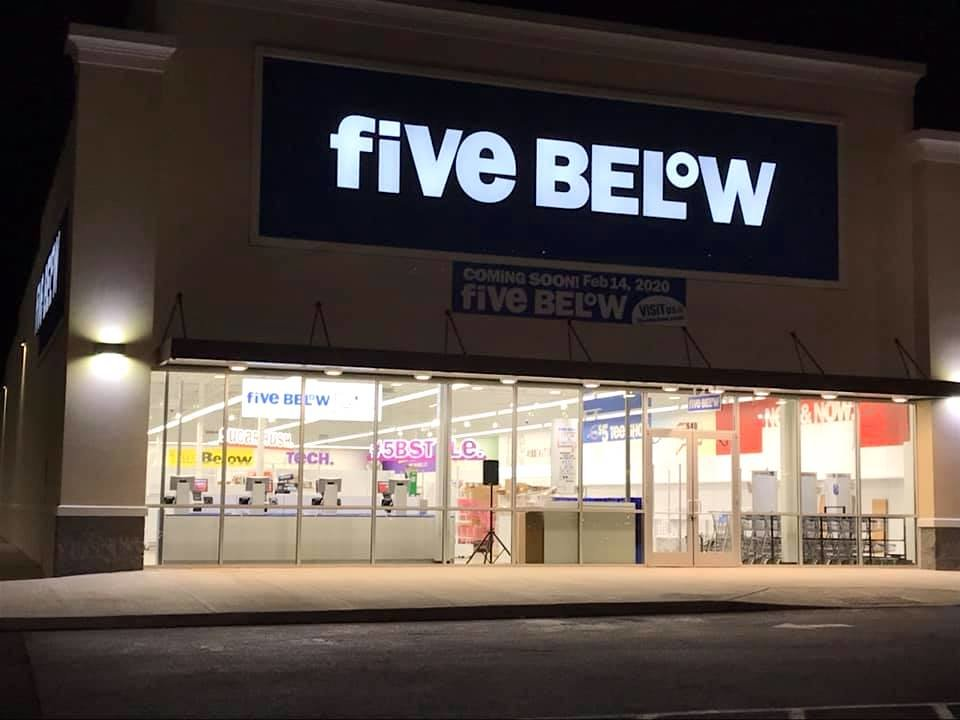 Five Below in Jasper is set to open on Valentine's Day. In this recent photo, fixtures are visible inside. The store is located in the Jasper Square Shopping Center and will sell a variety of items for $5 and under.