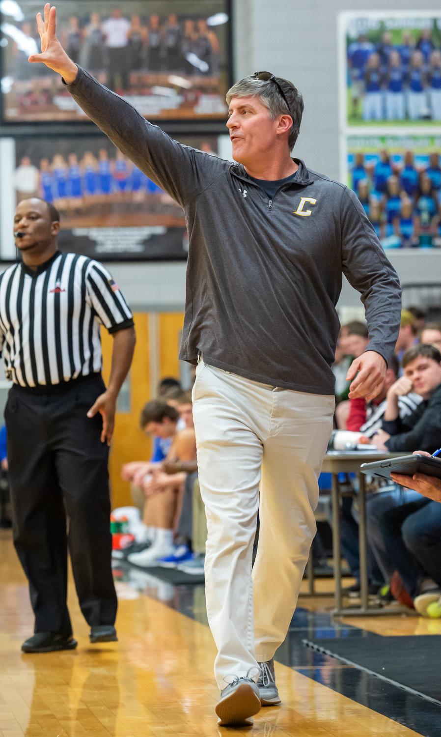 Curry boys basketball coach Mike Cain has the Jackets in the area tournament championship game for the second straight year after a 68-66 win over Fayette County on Tuesday.