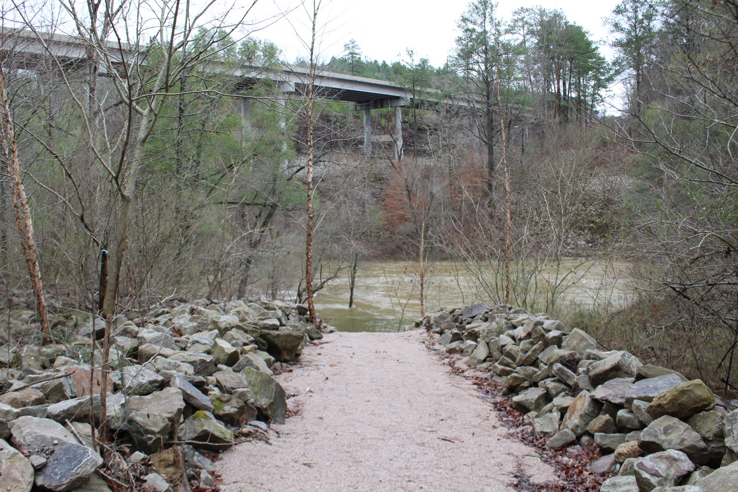 The new paths to Blackwater Creek provide significantly easier access to the waterway.