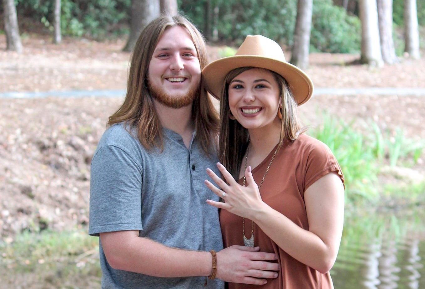 Many people helped make Valentine's Day special this year for Dakotah Stanton and Riley Brown, who are engaged to be married later this year.