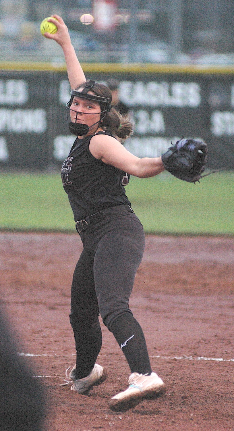 Sumiton Christian's Ballie Hall throws a pitch against Carbon Hill Tuesday.
