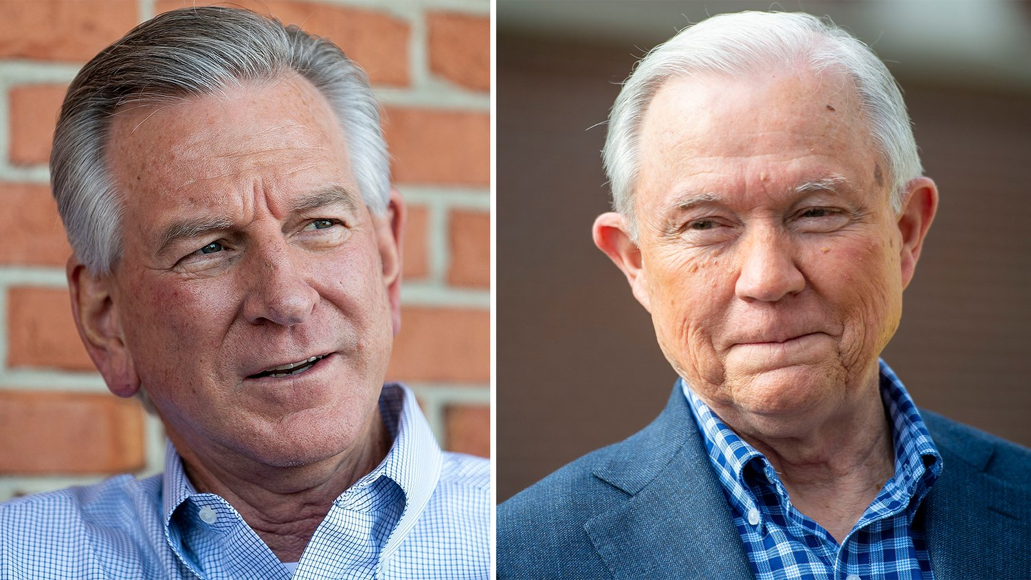 Both Republican candidates for U.S. Senate, Tommy Tubberville (left) and Jeff Sessions (right), support having a stimulus package for the American people during the COVID-19 outbreak.