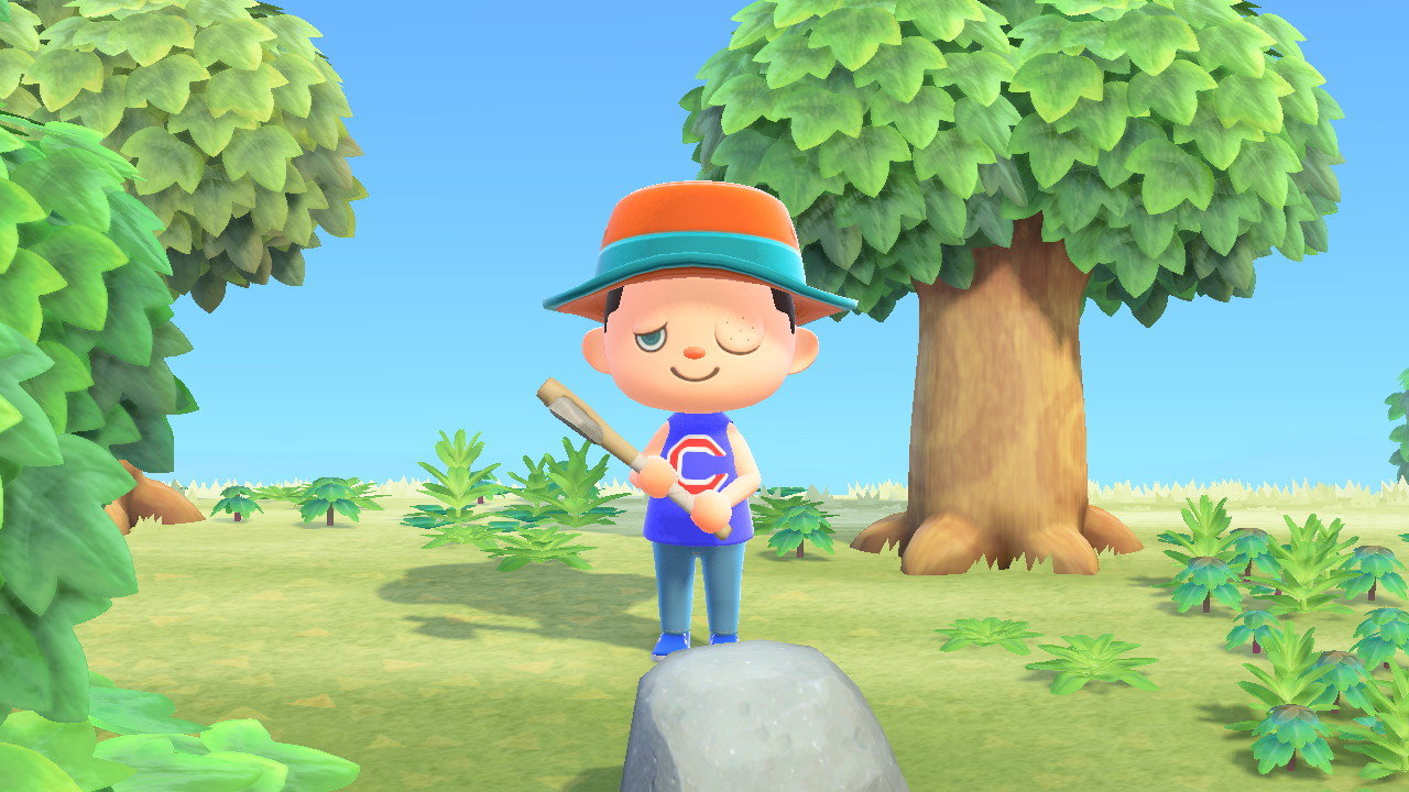 "An avatar displays a wound from a wasp sting in""Animal Crossing: New Horizons."" Wasps and tarantulas are as threatening as gameplay gets in the game, which is rated E for everyone."