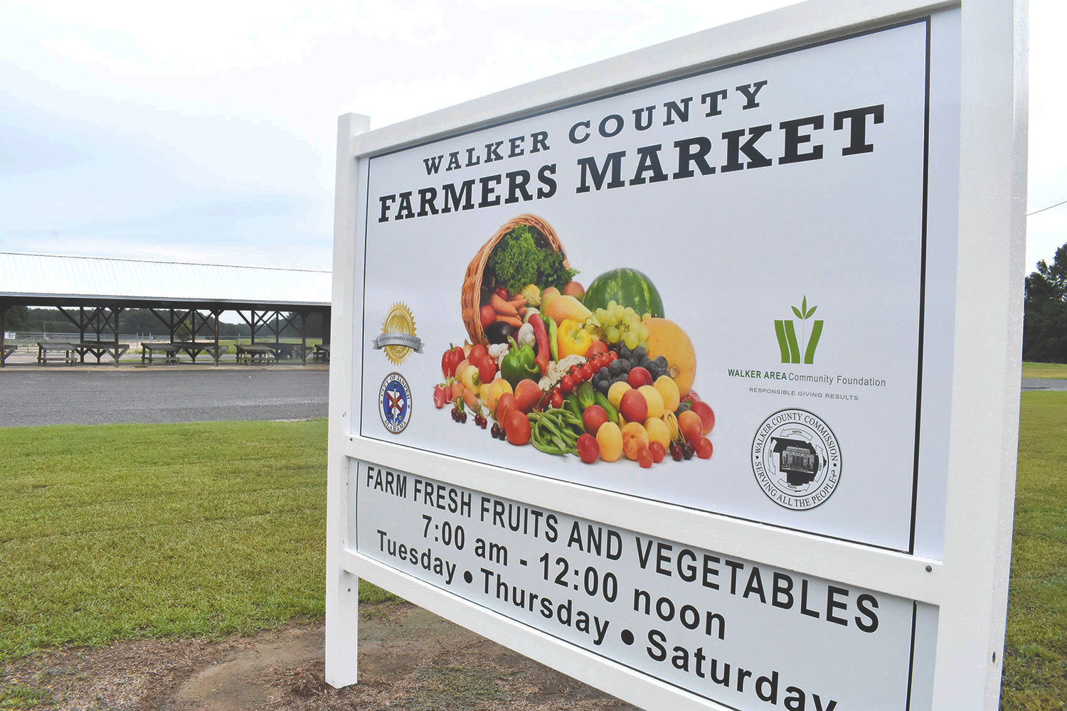 Strawberries returned to the Walker County Farmers Market this week, a small sign of normalcy in what is sure to be an unusual season for farmers and customers.