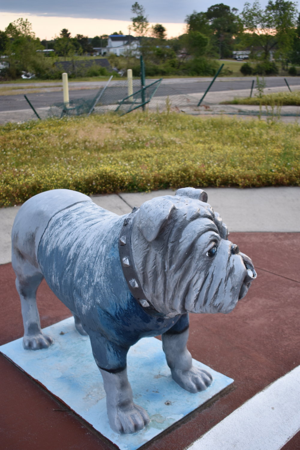 The Carbon Hill City Council indicated Monday that the splash pad was too damaged from the April 12 Easter tornado to be used this summer. The bulldog was said to almost be ripped completely off the pad.