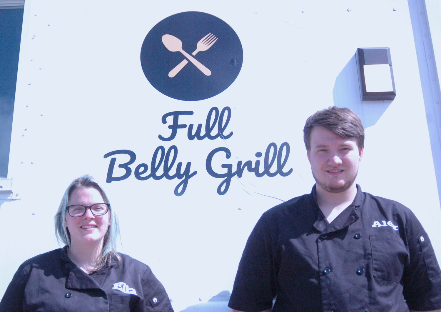 Ella Shubert and Alex Vila founded operate the Fully Belly Grill on Viking Drive.
