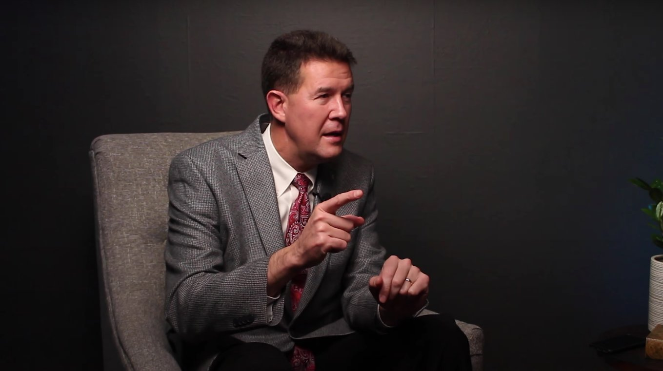 Alabama Secretary of State John Merrill speaks on an episode of 'Talking Politics with Ed Howell'  in February 2020.
