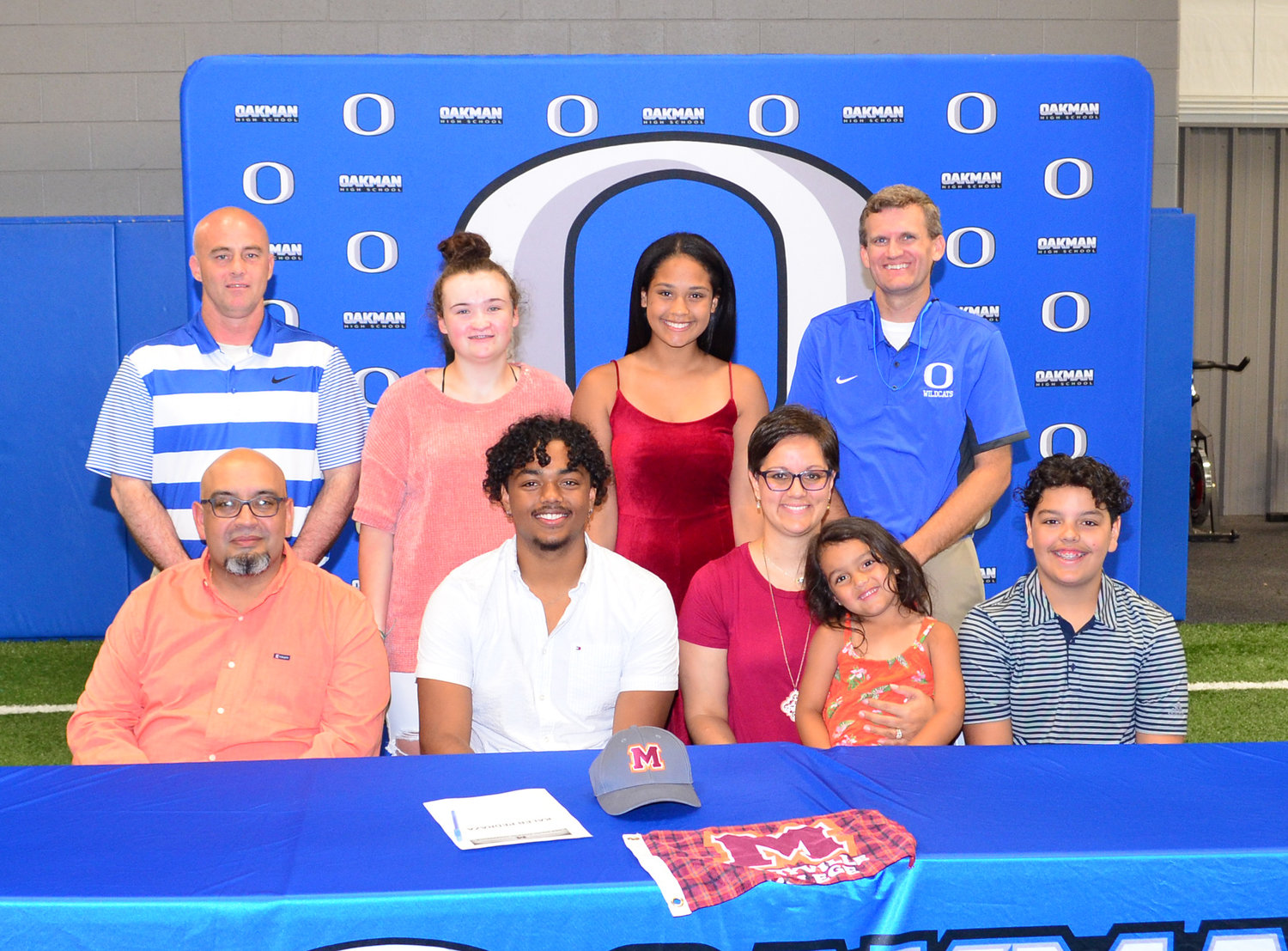 Oakman's Kaleb Pedraza signed a letter-of-intent with Maryville College on Thursday. He will play football for the Division III school located in Tennessee.