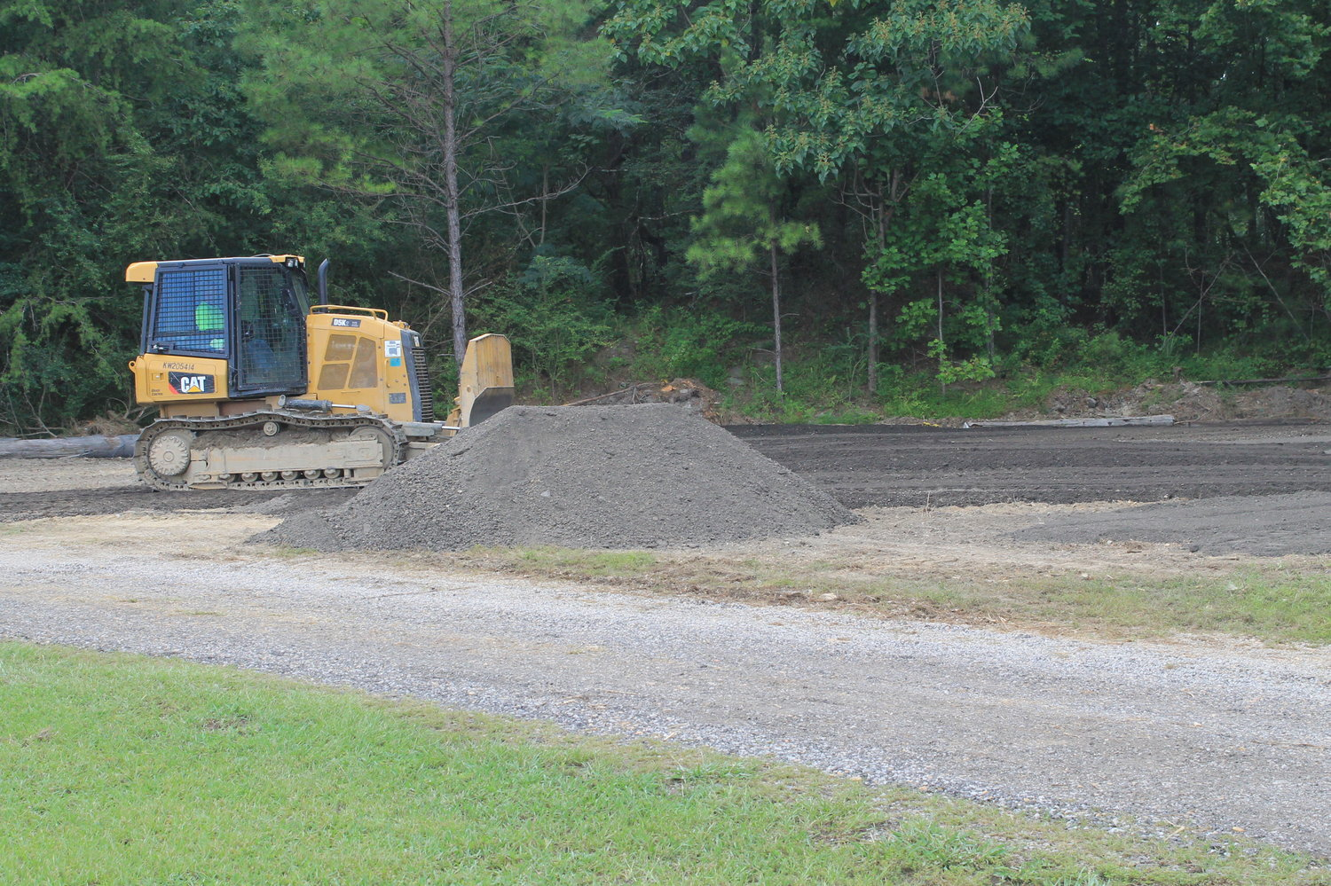 A new parking area is one of the improvements currently being made to the Walker County Sheriff's Office firing range.
