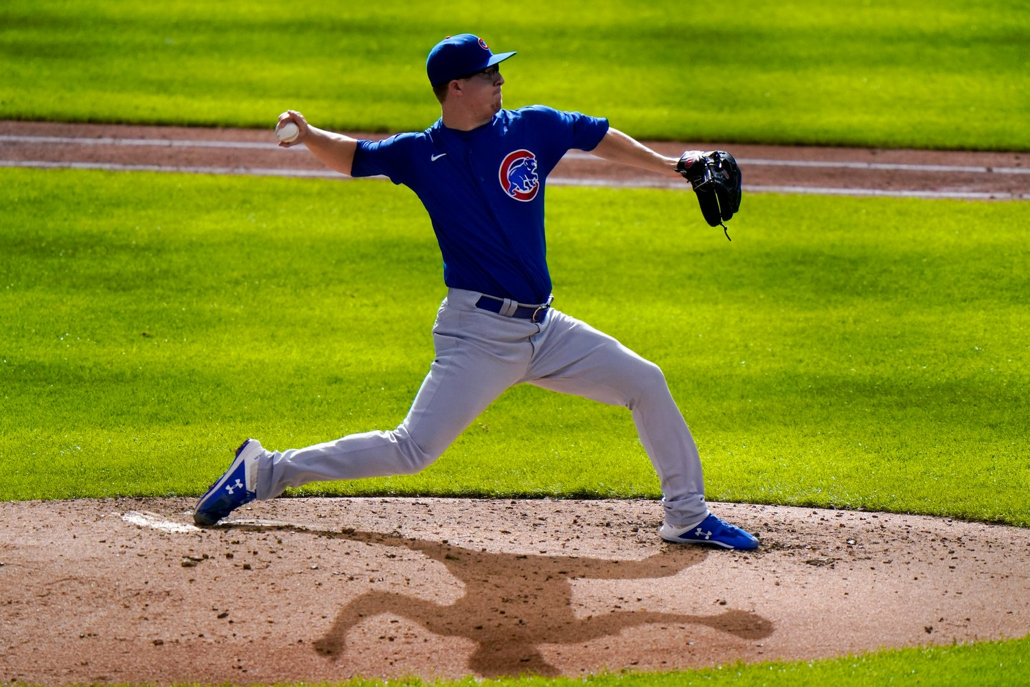 Chicago Cubs starting pitcher Alec Mills throws during the eighth inning of a baseball game against the Milwaukee Brewers Sunday, Sept. 13, 2020, in Milwaukee. (AP Photo/Morry Gash)