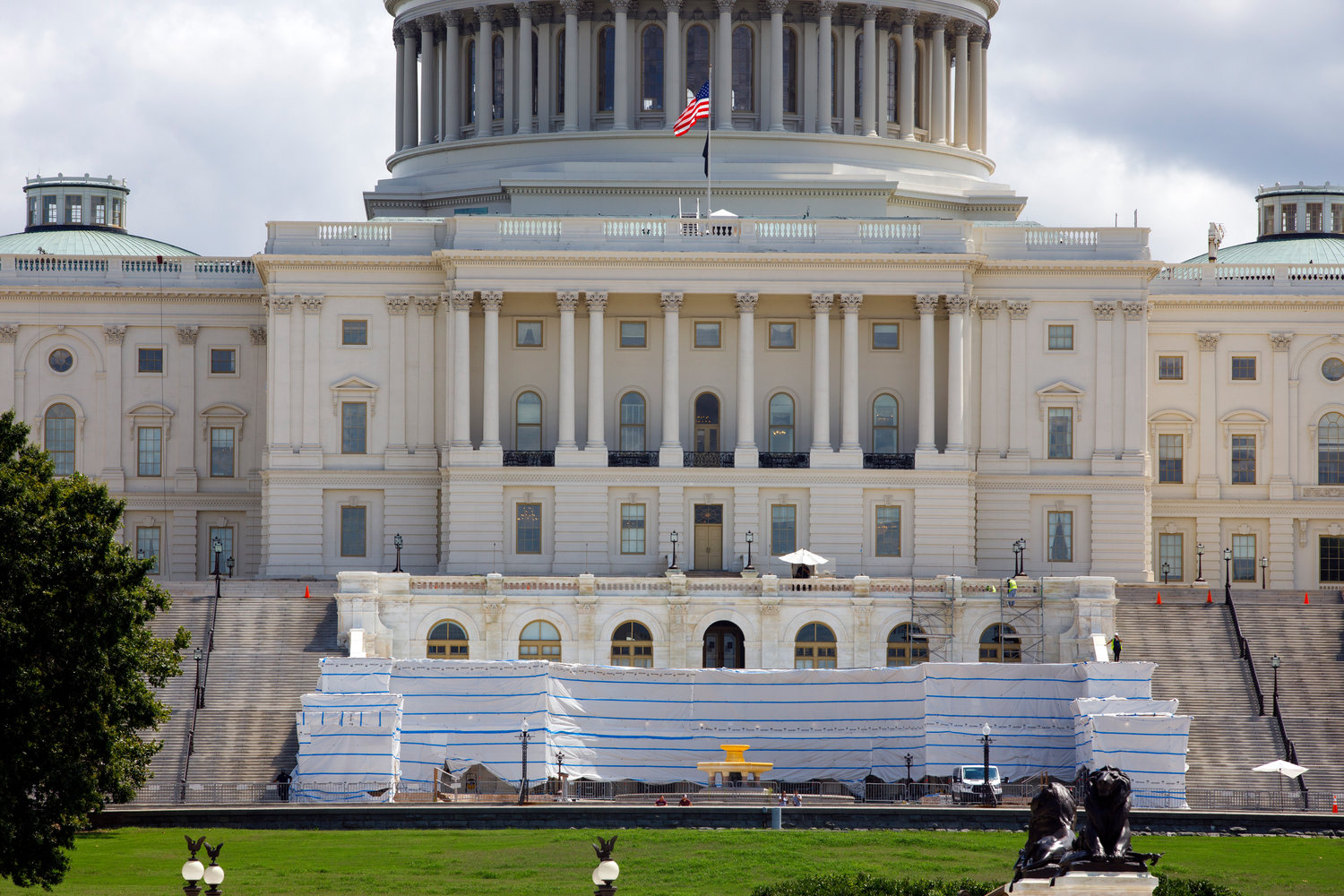 The East Front side of the U.S. Capitol on Friday, Aug. 7, 2020, in Washington. (AP Photo/Jon Elswick)