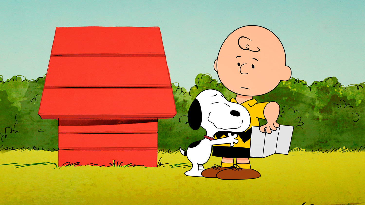 "This image released by Apple shows animated characters Snoopy, left, and Charlie Brown from the original series ""The Snoopy Show,"" premiering Feb. 5 on Apple TV+. (Apple via AP)"