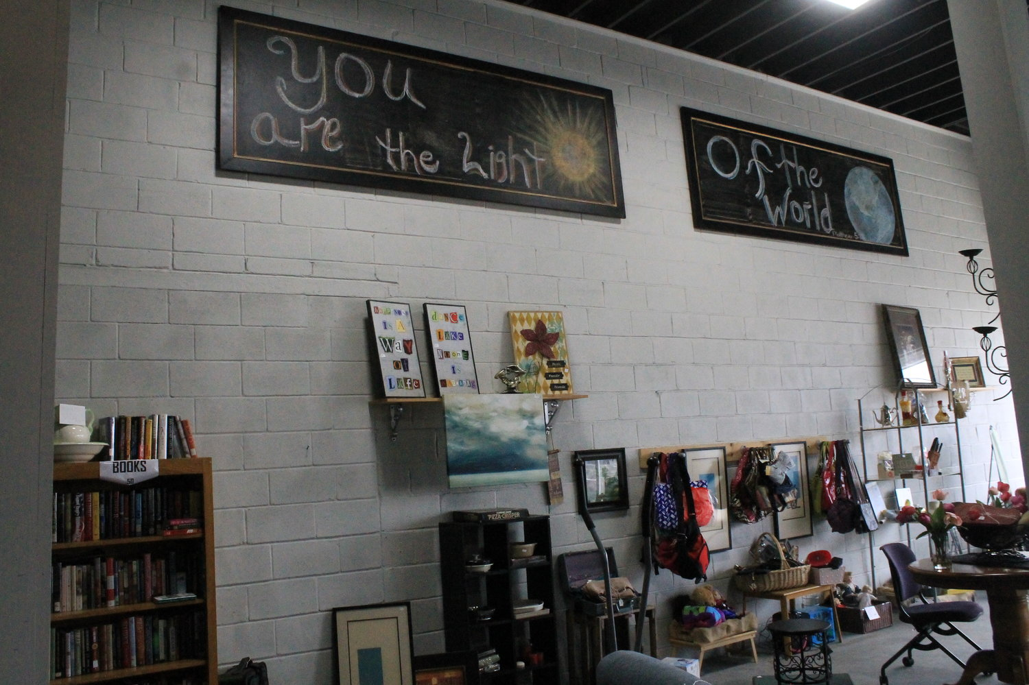 The merchandise in the thrift store comes from donations dropped off at the Dream Center, which is located on Austin Circle in Dora. Donations are tax deductible.