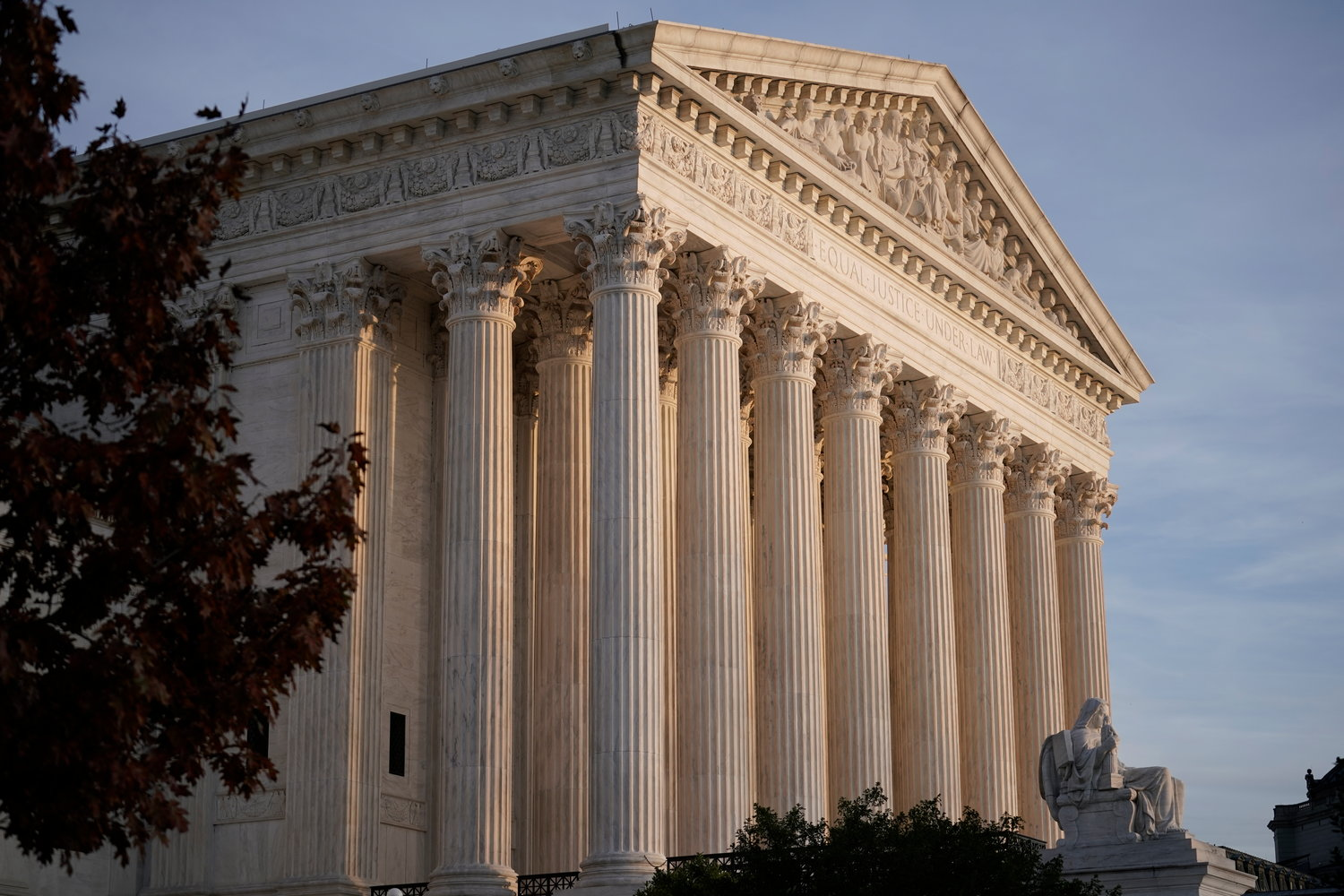 FILE - This Nov. 5, 2020 file photo, shows the Supreme Court in Washington. (AP Photo/J. Scott Applewhite, File)
