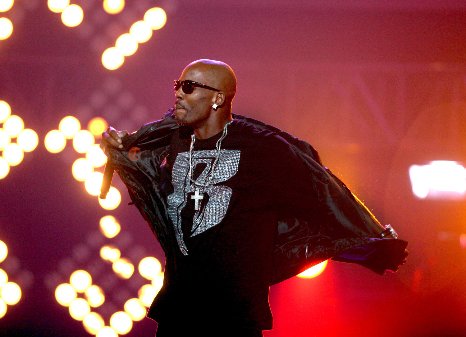 FILE- In this Oct. 1, 2011 file photo, DMX performs during the BET Hip Hop Awards in Atlanta.   (AP Photo/David Goldman, File)
