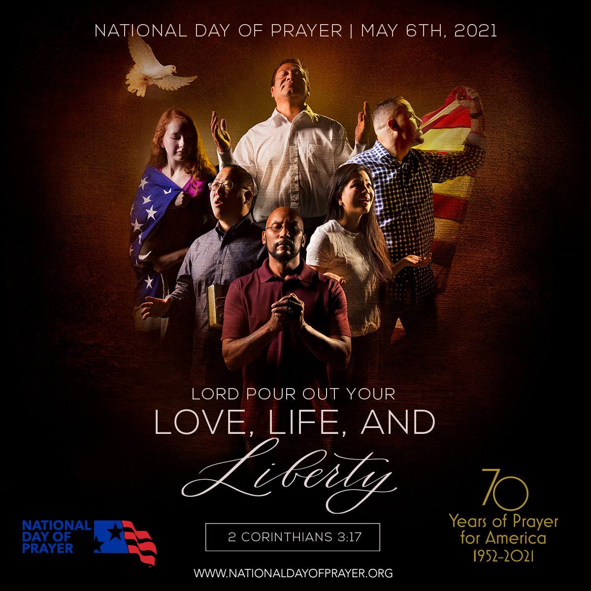 This nationally released poster shows the theme for the National Day of Prayer on Thursday. Carbon Hill will hold an observance at noon Thursday at City Hall.