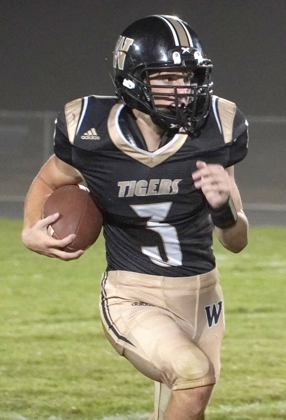 Woodbine's Cameron Kline finished with two interceptions's in the Sept. 4 win over Boyer Valley.
