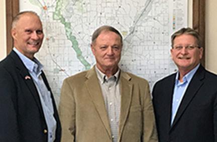 Harrison County Board of Supervisors, from left, Tony Smith, John Straight, Walter Utman.