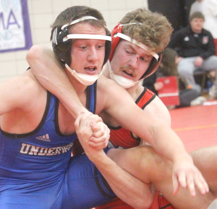 Missouri Valley's Drake Anderson earned a third place finish at the Western Iowa Conference championships in Audubon on Saturday.