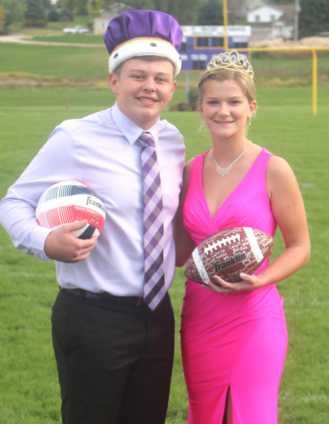 The 2020 Logan-Magnolia Homecoming Royalty was announced on Sept. 27 before the start of the jersey auction. Shown above is King Josef Hedger (son of Chris and Jacob Hedger) and Queen Ashlyn Doiel (daughter of Brandon and Amy Doiel).