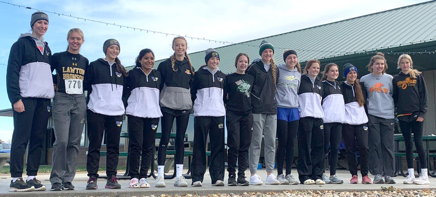 MVAOCOU's Hannah O'Connell (seventh from the left) placed eighth at the Western Valley Conference meet on Oct. 17.
