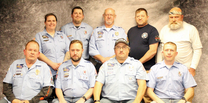 2021 Logan Volunteer Firemen Association, Awards Night: Shown above are the newly elected Board Members, include in the front row, from left, Gary Nordby, Kyle Haffey, Craig Charbonneau, Kory Brunken. Back row, Arianna Thacker, Kevin Thacker, Boone Christo, Derek Bucy, Larry Landon.