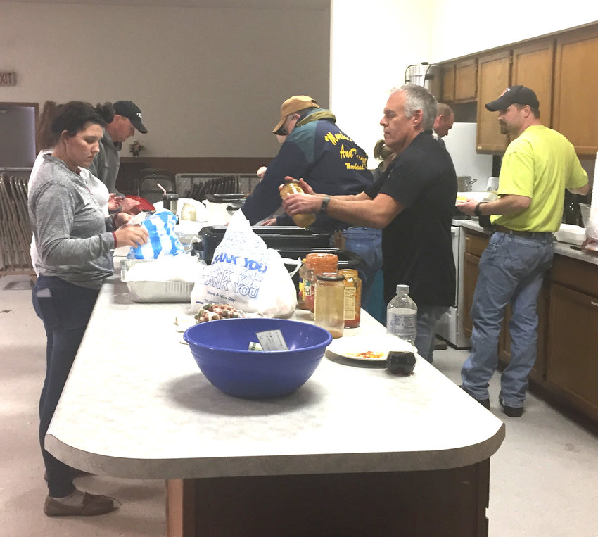 Moorhead Fire and Rescue volunteers stayed busy serving up spaghetti and garlic bread on Monday, March 15, at the Moorhead Community Center.