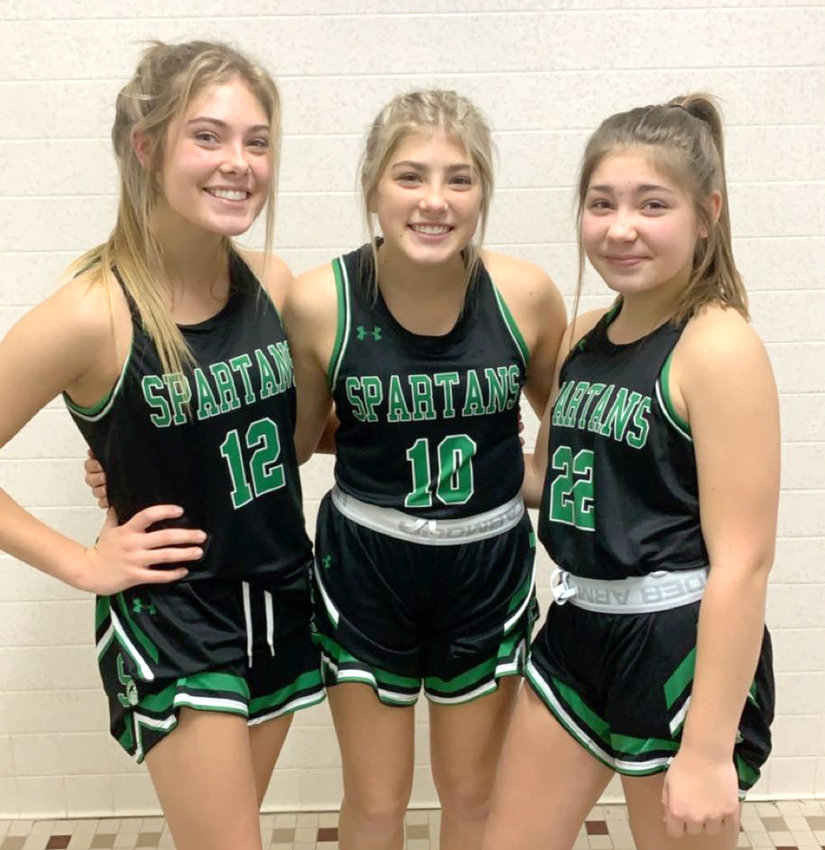 The three granddaughters of Bob and Wanda Andre of Mapleton were all major contributors to the varsity basketball program at West Monona High School during the 2020-2021 season. Tayah (12) is a senior, Miella (10) is a junior, and Jalyn (22) is a freshman.