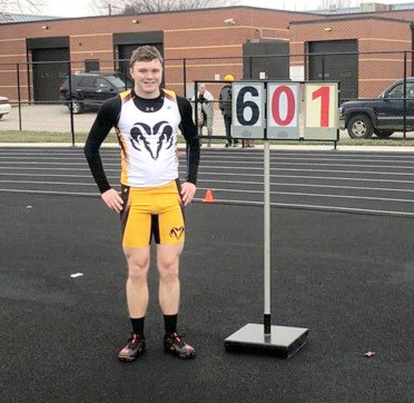 Will Forbes won the boys high jump with a jump of 6 feet at the Carroll Early Bird on March 25. He missed his three attempts at 6-1.