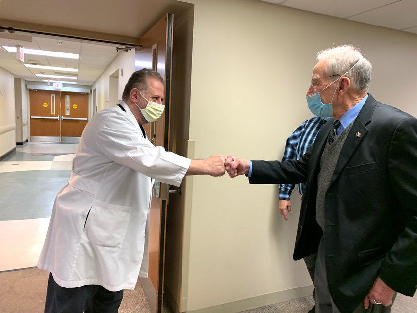Senator Chuck Grassley greeted providers and CHI Health in Missouri Valley on Tuesday, March 30.