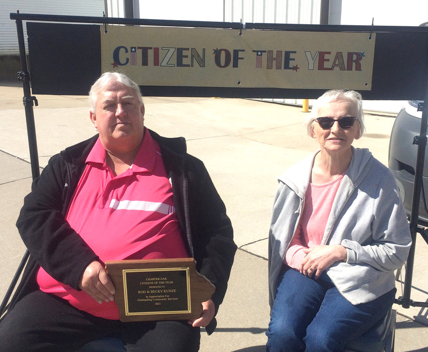 Rod and Becky Kunze were named Charter Oak Citizens of the Year at the Charter Oak Community Club's spring dinner on April 11.