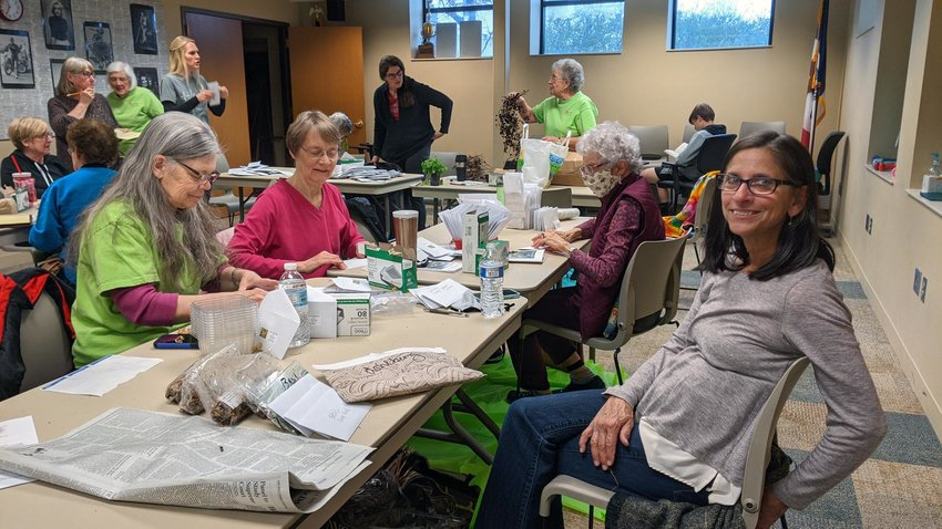 The Loess Hills Garden Club packaged hundreds of flower seeds recently to give to anyone interested. The seed are available at the Missouri Valley Public Library until they are gone. Hurry in, they don't last long! See our Spring Home, Lawn and Garden page inside this edition.