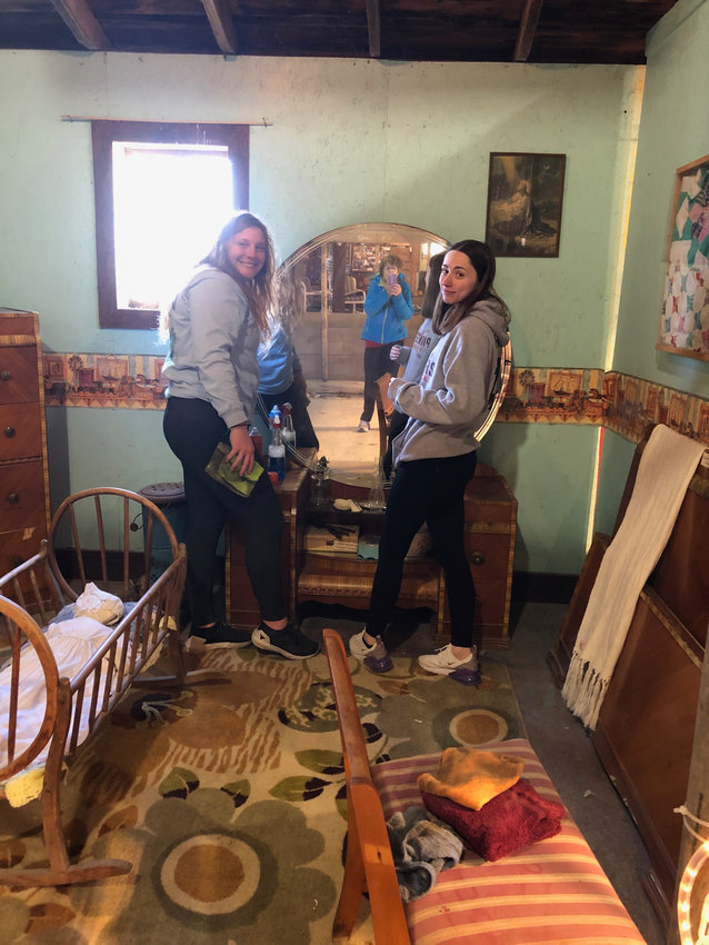 The Wisecups are preparing for the upcoming season at their farm museum with a little help from Cherry Hill Church youth group volunteers. They will open Saturday, May 8.