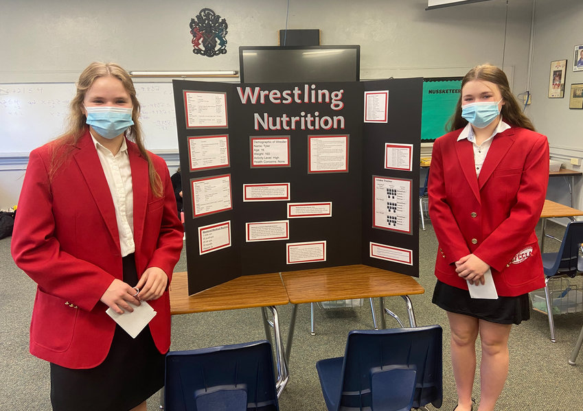 Nikki Olson and Henley Arbaugh presented Wrestling Nutrition.