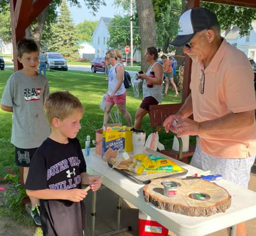 Children of all ages were taking advantage of fun opportunities at the Art in the Park on july 24 in Dunlap.