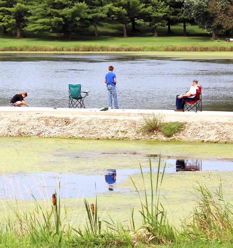 A family enjoys a quiet summer day at Pleasant View Park in Dunlap.
