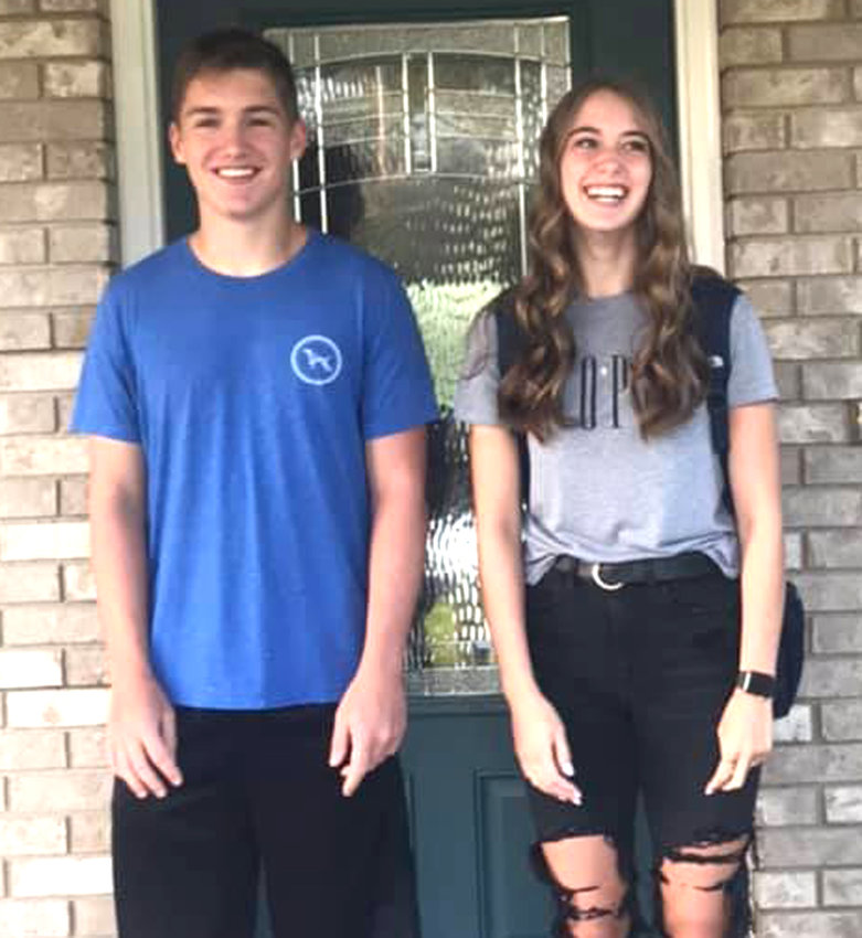 Boyer Valley, First Day of School: Zach and Jaci Petersen.