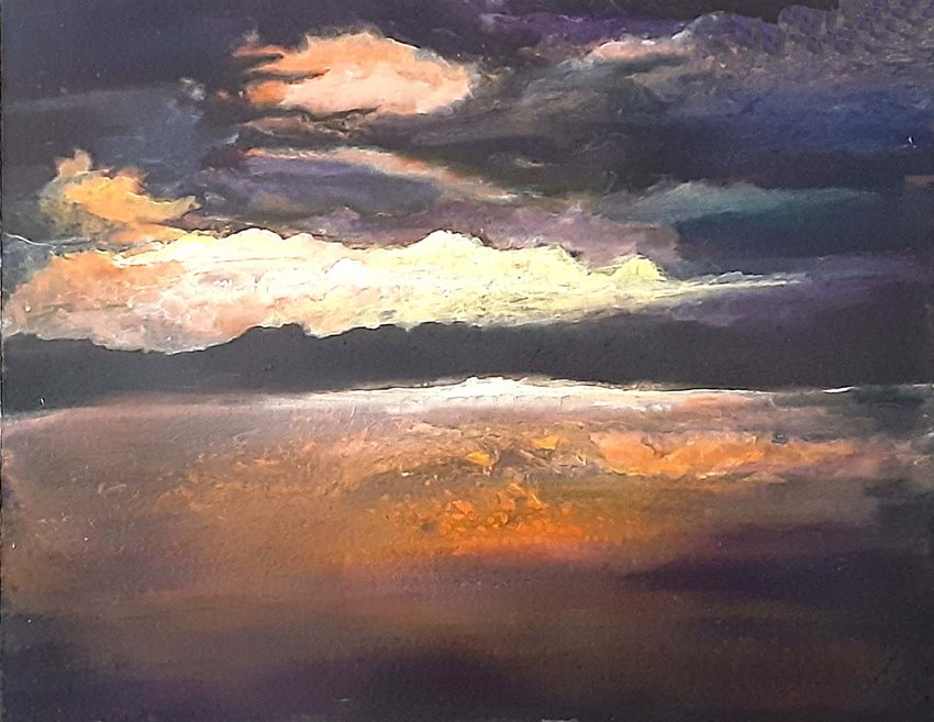 """""""After the Storm"""" by Virginia Dunlap was awarded Fifth place in the Celebrate the Hills art exhibit at Moorhead's Cultural Center."""