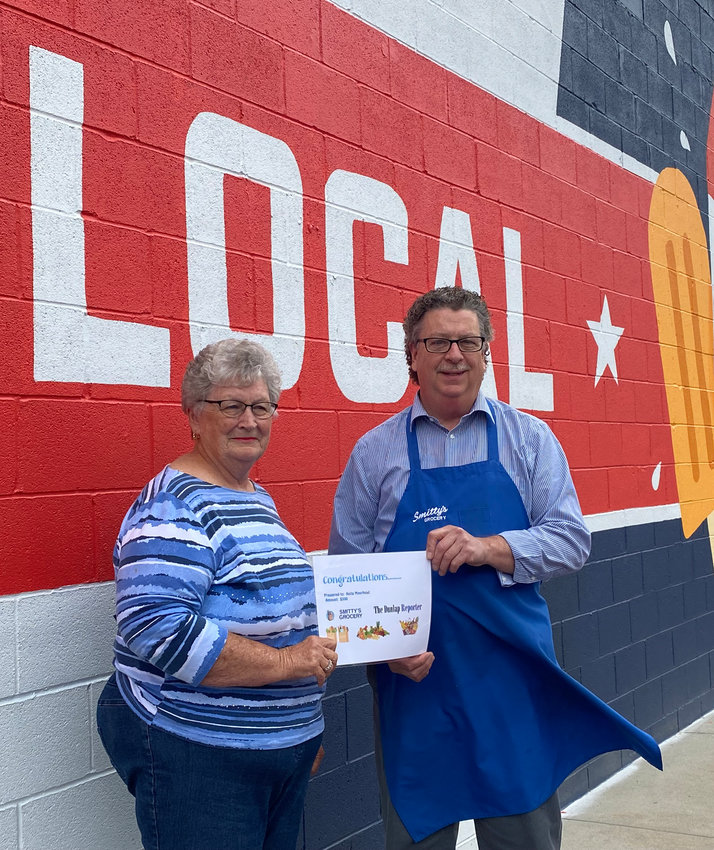 Anita Moorhead is the new subscriber to The Dunlap Reporter whose name was drawn as the Grocery Giveaway winner. She won grocery gift certificates from Smitty's in Dunlap, valued at $300. Congratulations to Anita, and thank you for choosing The Dunlap Reporter!