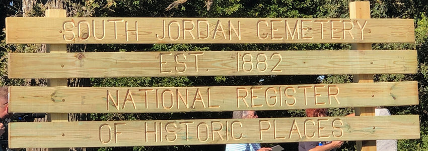 The Monona County Historic Preservation Commission hosted a celebration and the Monona County Department of Natural Resources placed a new marker at the South Jordan Cemetery - this one to declare the historic significance of the site.