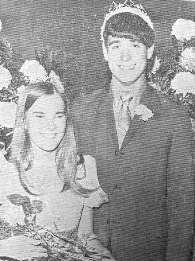 Marilyn Nutt and Brad Pithan reigned over the homecoming activities at Maple Valley Schools in 1971. The two were crowned king and queen at the coronation held at the school in Castana. .
