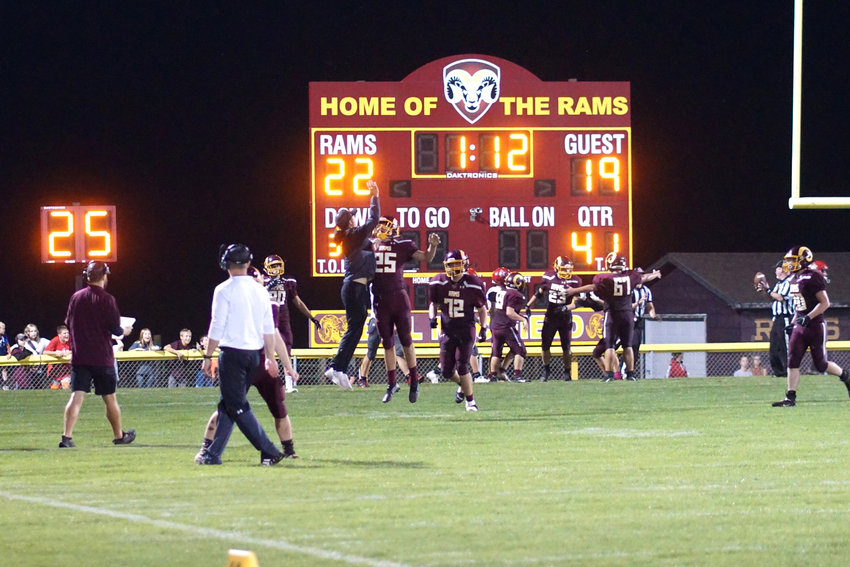 The MVAOCOU football team beat East Sac, 22-19, on Friday night, Oct. 8 to get their first win of the season and snap a 22-game losing streak. The Rams scored the game winning touchdown with 1:12 left in the game. See the complete game recap on Page 14.