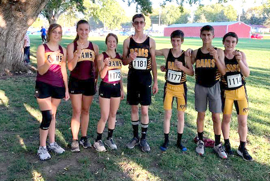 Olivia Beeson, Lauren McMillen, Hannah O'Connell, Ethan Reed, Justin Dorale, Kael Hamann and Erik Bailey all earned a medal at the Kingsley-Pierson Invitational on Oct. 5.